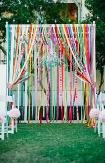 wedding photo - Bunte & Eclectic Rosemary Beach Wedding