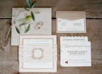 wedding photo - Invitations la main