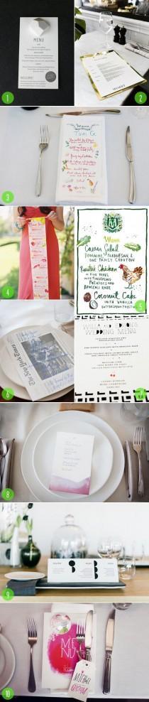 wedding photo - Top 10: Les menus