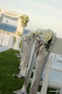 wedding photo - زهرة بسيطة مع الشريط طويل جدا