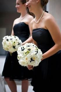 wedding photo - Black,white & Ivory Wedding