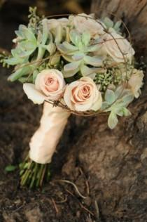 wedding photo - Succulent Bouquet.
