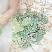 wedding photo - جميع النعناع الأخضر باقة الزفاف