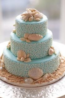 wedding photo - Plage Inspiré gâteau de mariage