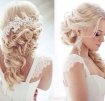 wedding photo - Cheveux de mariage. Demi Demi Down.