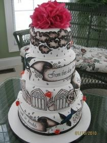 wedding photo - Tattoo Wedding Cake