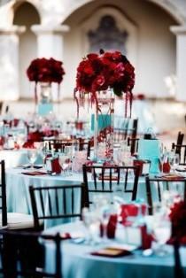 wedding photo - متعة الأحمر Centerpeice