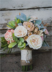 wedding photo - How To Make A Fake Flower Bridal Bouquet