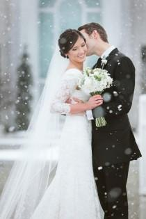 wedding photo - Gorgeous Winter Wedding Photo