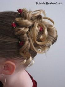 wedding photo - Flower Girl Updo