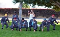 wedding photo - Football Themed Wedding