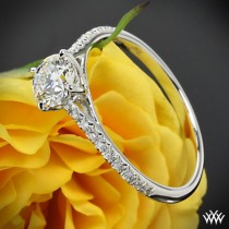 "wedding photo - 18k White Gold Vatche ""Melody"" Diamond Engagement Ring"