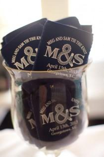 wedding photo - Nautical Koozies. Could Be A Cute Favor