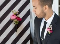 wedding photo - Modern Black, Pink And Gold Wedding Inspiration