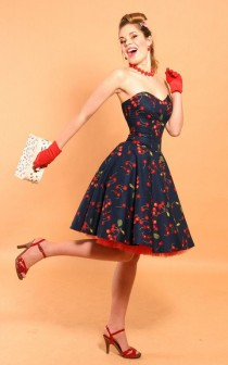 wedding photo - Rockabilly Cherry Bomb Dress
