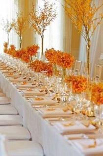 wedding photo - Оранжевый Tablescape