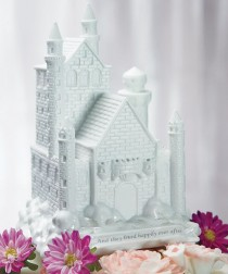 wedding photo - Fairy Tale Dreams Castle Cake Topper
