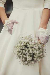 wedding photo - 1950-х Свадебные Аксессуары - Перчатки!