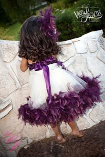 wedding photo - Plum Devine Mädchen Rosette Fluffy Kleid