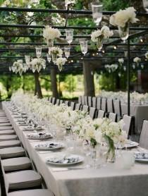 wedding photo - Classic White Reception Table