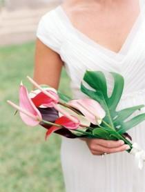 wedding photo - Тропический Букет Антуриум