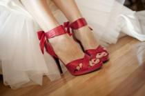wedding photo - الحديث الأحمر سطحي الزفاف