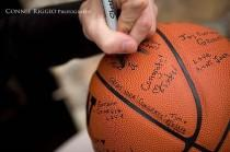 wedding photo - Basketball Guest Sign In Ball