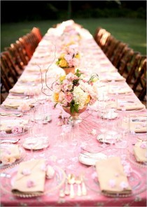 wedding photo - Pink Wedding Decor Ideas