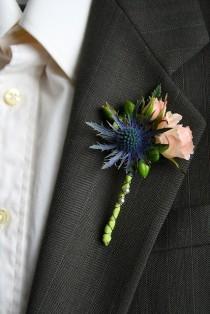 wedding photo - Голубой Чертополох И Брызг Роз