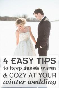 wedding photo - Don't Forget To Keep Guests Warm At Your Winter Wedding With These 4 Easy Tips And Tricks