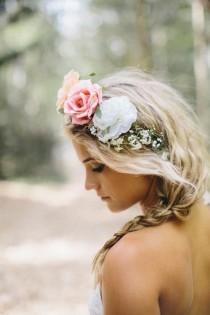 wedding photo - Богемный Волосы Невесты