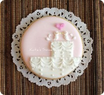 wedding photo - Inséparable de gâteau de mariage Cookie