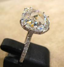 wedding photo - 5.67 quilates Anillo Diamante corte Rose T FL
