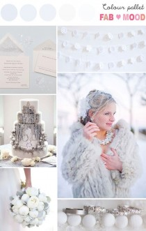wedding photo - Sparkly White Winter Wedding Board
