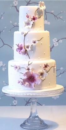 wedding photo - Cherry Blossom Wedding Cake