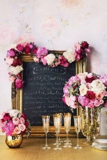 wedding photo - Floral-trimmed Frame