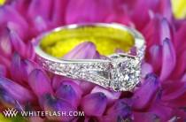 "wedding photo - 18K White Gold ""Divisi"" Diamond Engagement Ring"