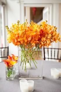 wedding photo - Beautiful Orange Orchids