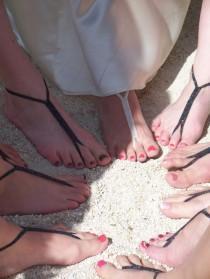wedding photo - Bride & Maids sandales de plage