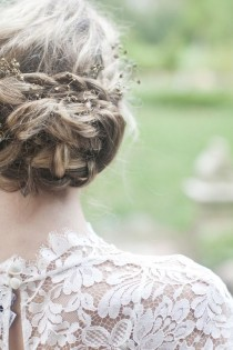wedding photo - Messy Mais élégant Braid Chignons