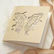 wedding photo - Elegante Schmetterlings-Hochzeits-Einladungen