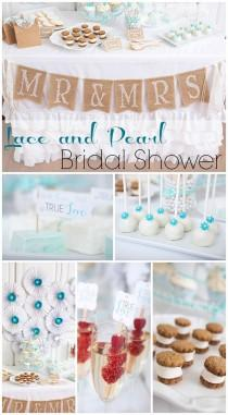 "wedding photo - Lace And Pearls / Bridal/Wedding Shower ""Lace And Pearls Bridal Shower"""
