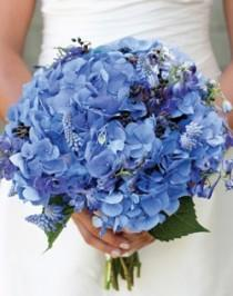wedding photo - Blue Wedding Bouquet