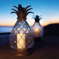 wedding photo - Pineapple Hurricane Lanterns
