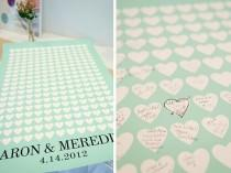wedding photo - Moderno Mint Guest Book