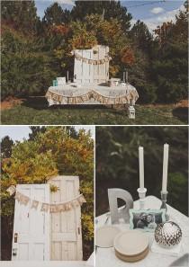 wedding photo - Backyard mariage d'automne