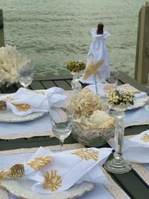 wedding photo - Tablesetting С Ракушками