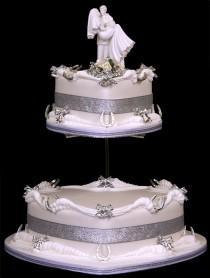 wedding photo - Heart-gâteau de mariage