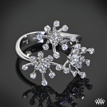 "wedding photo - 18K White Gold ""Princess Blossom"" Diamond Right Hand Ring"