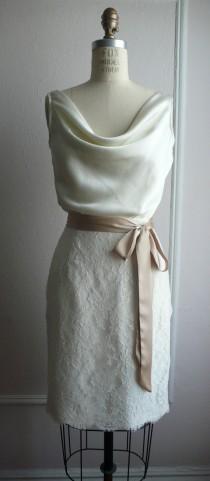 """wedding photo - كوكتيل الدانتيل الفرنسي فستان الزفاف، وحي 1940، تنورة قلم الرصاص، القلنسوة صد، """"بيني لي"""" خيال، تخصيص"""